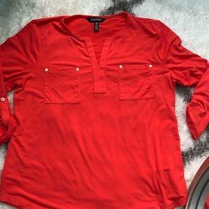 Ellen Tracy orange blouse